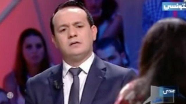 """Alaa Chebbi a suscité un tollé lorsqu'il a suggéré à la victime de se marier avec l'un de ses agresseurs - Capture d'écran de l'émission """"Andi Mankoulek"""""""