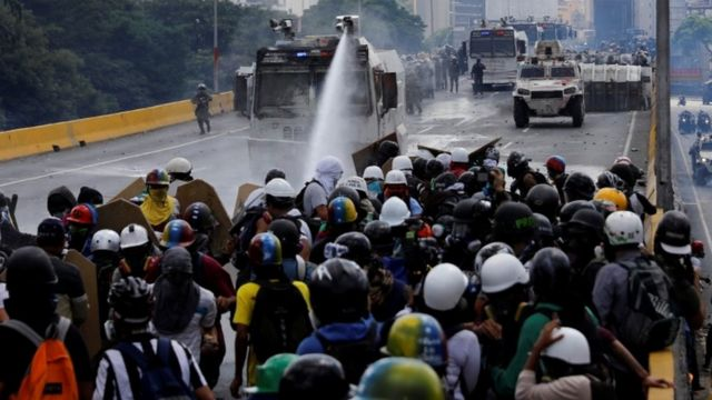 represion de una protesta