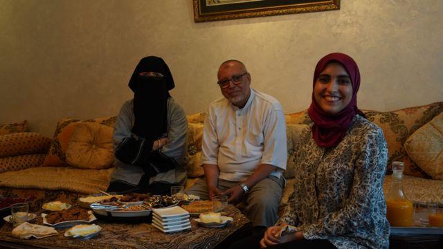 Abdallah al-Barnouni and his family