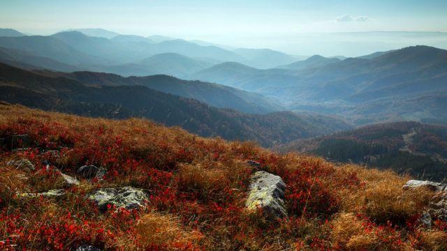 Montanhas do sul dos Cárpatos