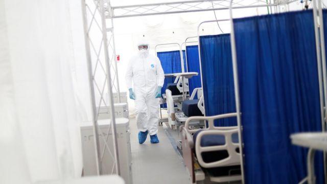 Hospital móvil de respuesta inmediata en Pachuca, México