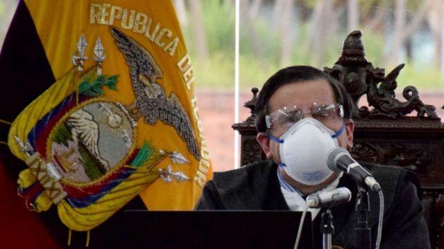 Juez en Ecuador el 7 de abril de 2020.
