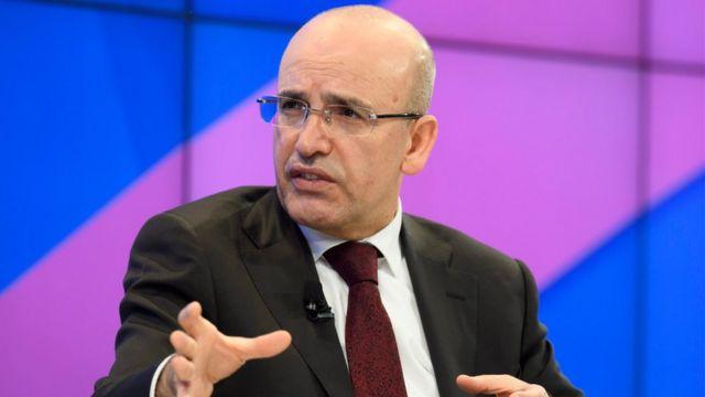نائب رئيس الوزراء التركي، محمد شيمشك، في منتدى دافوس الاقتصادي