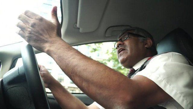 Asif Hanif driving car