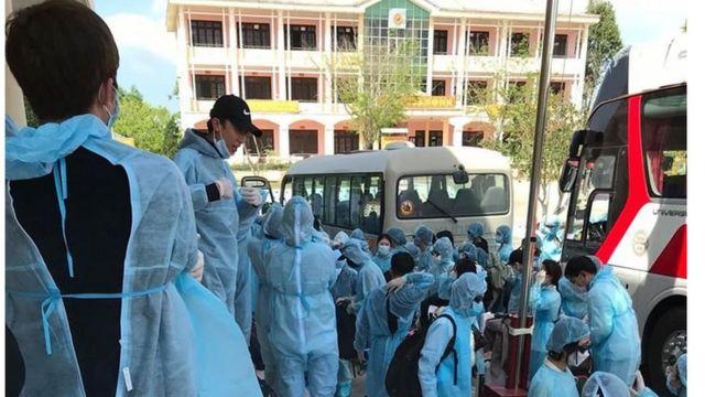 Khu cách ly 14 ngày của các hành khách vn kiểm tra ko có biểu hiện sốt