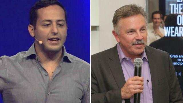 Eduardo Vivas (izda) y Jerry Bautista (dcha)