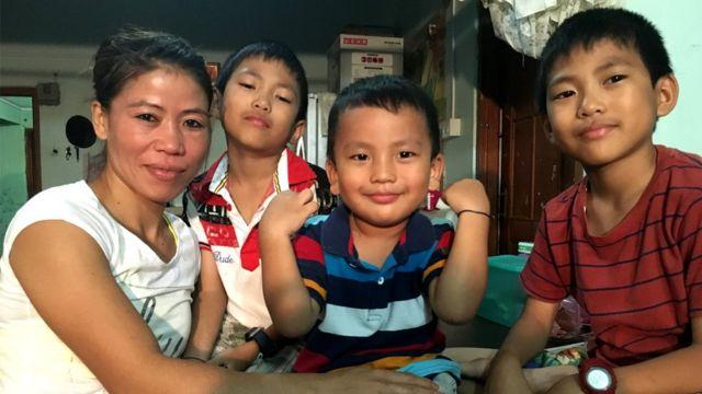 मेरी कॉम और उनके तीन बेटे