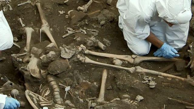 Adada bulunan iskeletler
