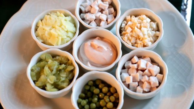 Ингредиенты сала оливье
