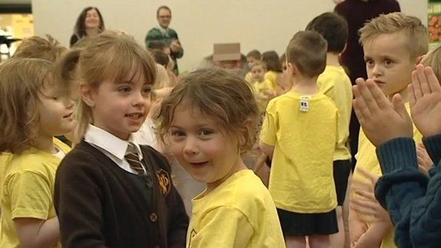 Children at Norman Street Primary School in Carlisle
