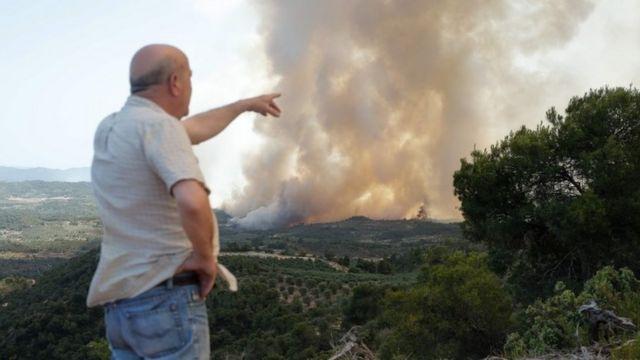 лесной пожар в Каталонии