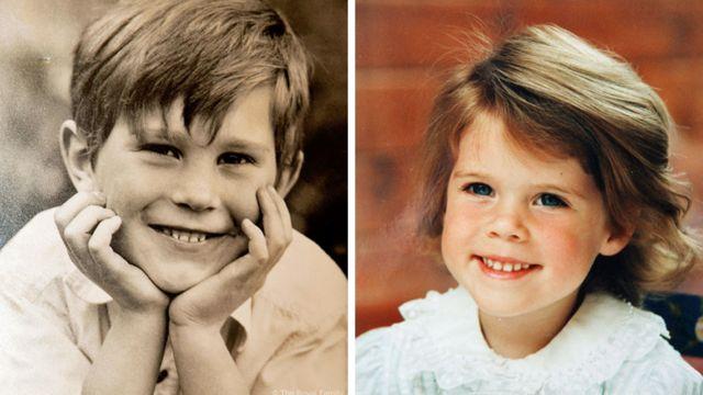 Джек Бруксбэнк и принцесса Евгения в детском возрасте