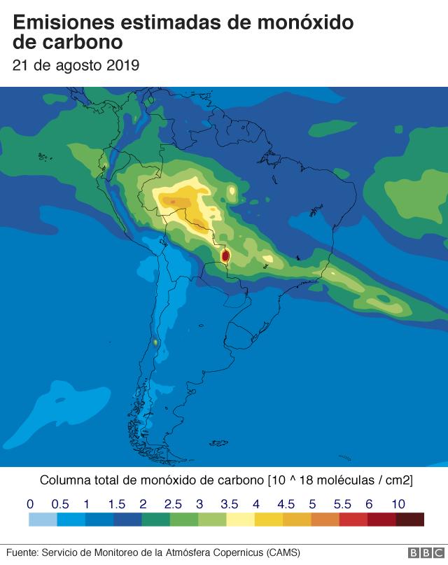 Mapa monóxido de carbono