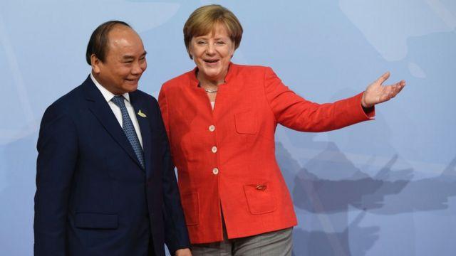 Nguyễn Xuân Phúc và Thủ tướng Angela Merkel