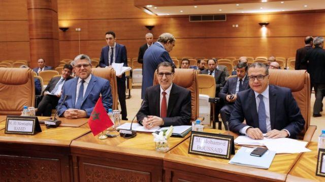 سعد الدين العثماني ورئيس الوزراء الفرنسي ادوارد فيليب
