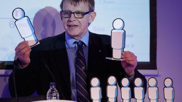 O professor sueco Hans Rosling