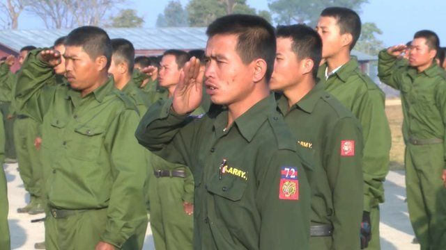 The Shan State North rebels in training