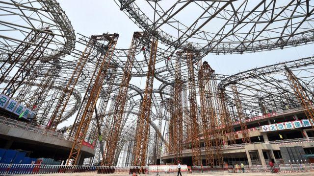 Строительство аэропорта в Пекине