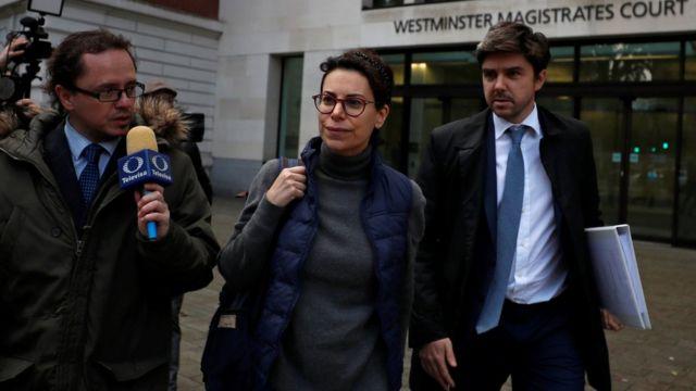 Karime Macías a la salida de la audiencia