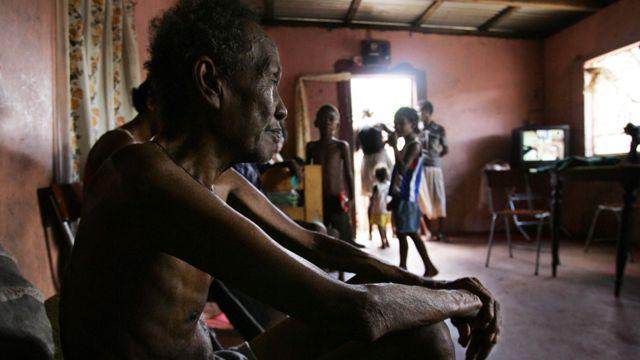 Foto de archivo de Louis Onesime, refugiado de Chagos