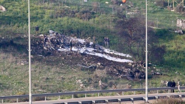 Indege ya Israeli F-16 yaguye mu kigwati kiri mu buraruko bwa Israeli