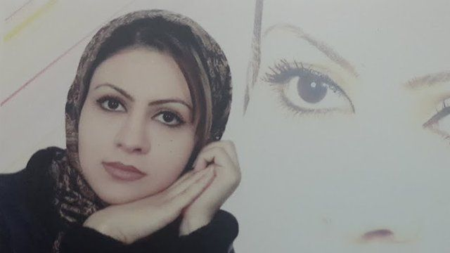 Masoumeh Ataie before she was attacked