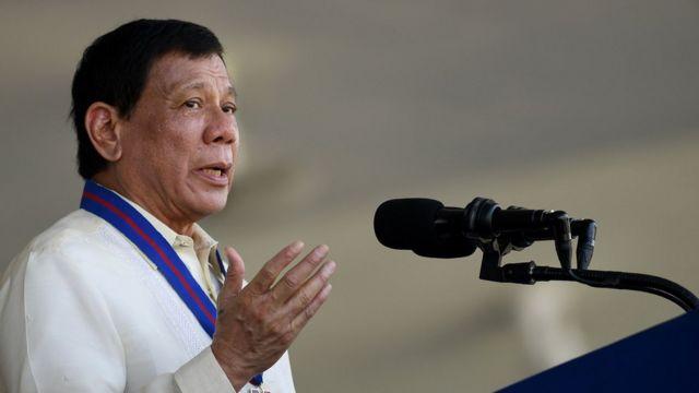 Filipinler Başkanı Rodrigo Duterte