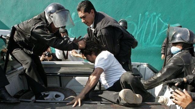 Incidentes en Atenco, México.