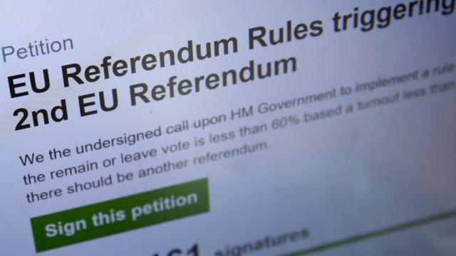 Petition for a second EU referendum