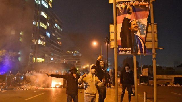 المتظاهرون اللبنانيون