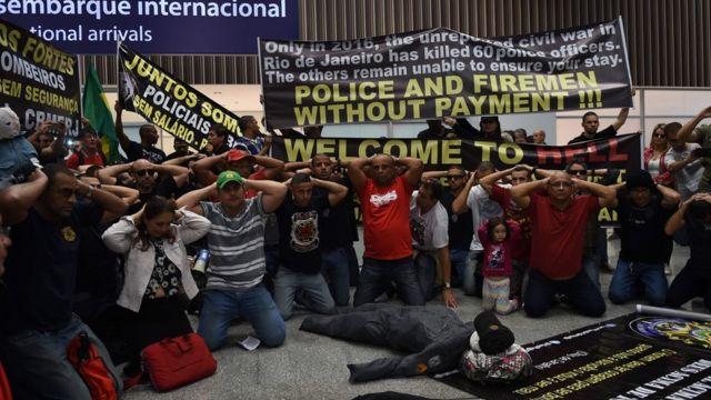 Protesta en Río