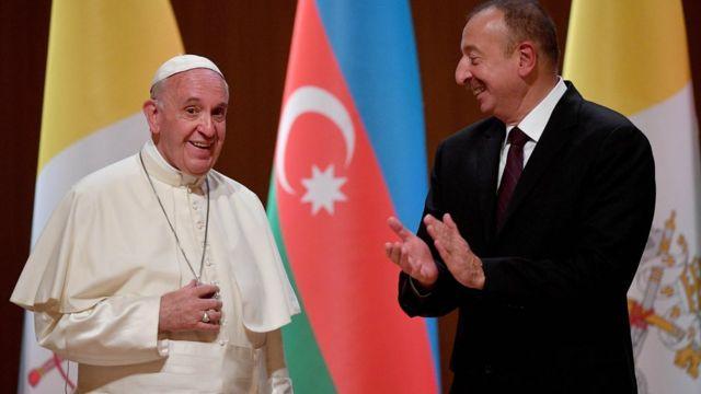 Ropa Papası Bakıda prezident İlham Əliyevlə görüşüb