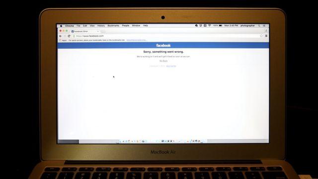 Navegador em um laptop