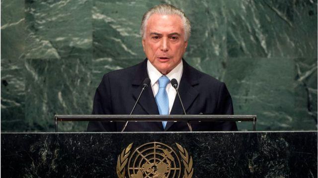 Temer em discurso de abertura da Assembleia da Onu