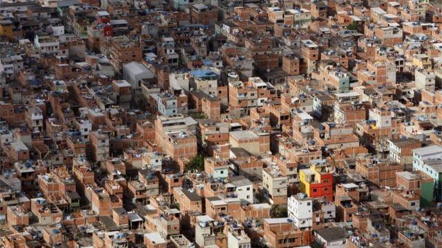 Visão aérea de Rio das Pedras