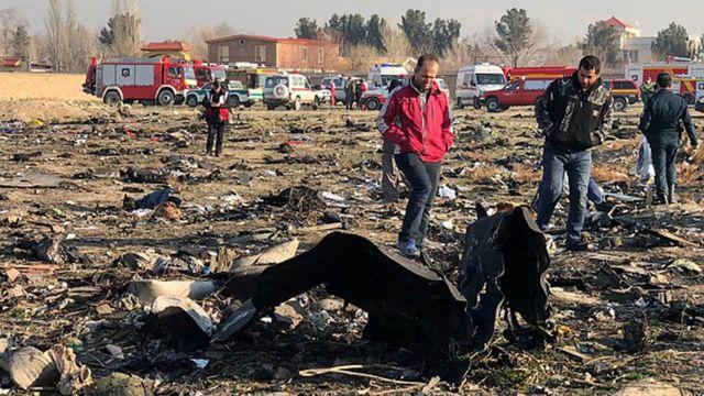 На місці авіакатастрофи