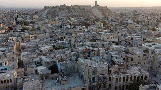 A cidade de Aleppo, durante a guerra