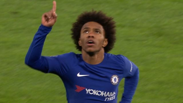 Willian of Chelsea celebrates