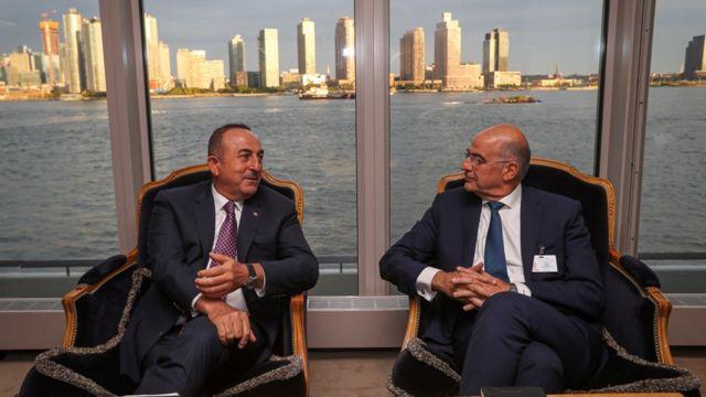 Dışişleri Bakanı Mevlüt Çavuşoğlu ile Yunanistan Dışişleri Bakanı Nikos Dendias, Eylül'de New York'ta bir araya gelmişti.