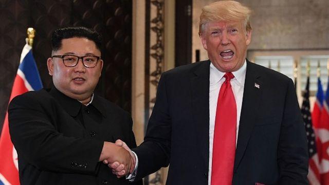 Trump na Kim Jung-Un
