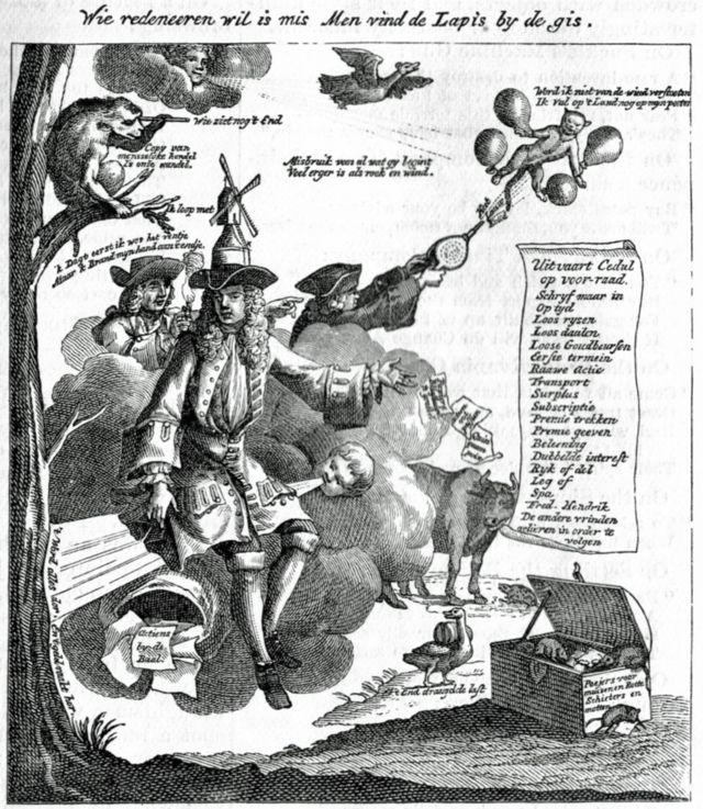 Caricatura alemana de la época