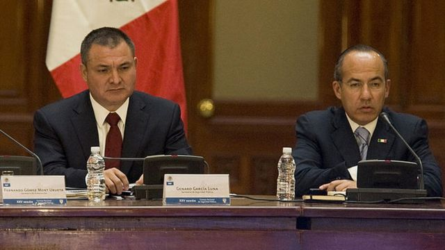 García Luna y Felipe Calderón