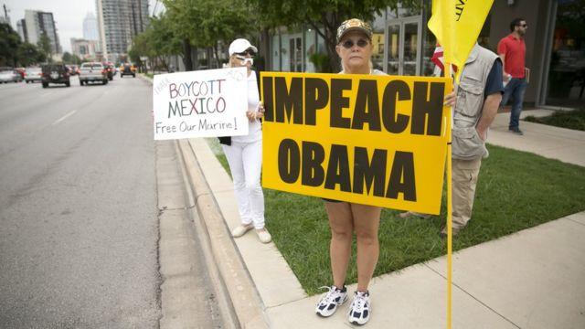 Протест против Барака Обамы