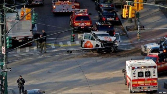 Scene of the incident in New York.