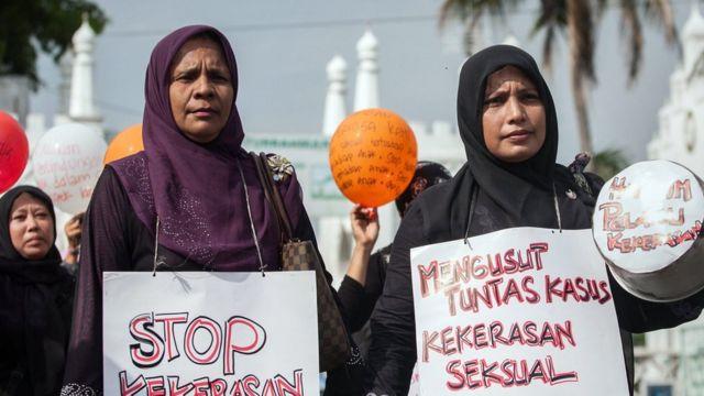 အင်ဒိုနီးရှား မိခင်တွေ ဆန္ဒပြ