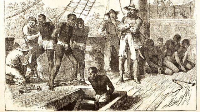 Ilustração de navio negreiro de 1881