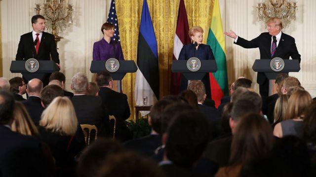 Трамп и президенты балтийских стран