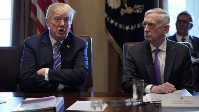 Donald Trump y James Mattis