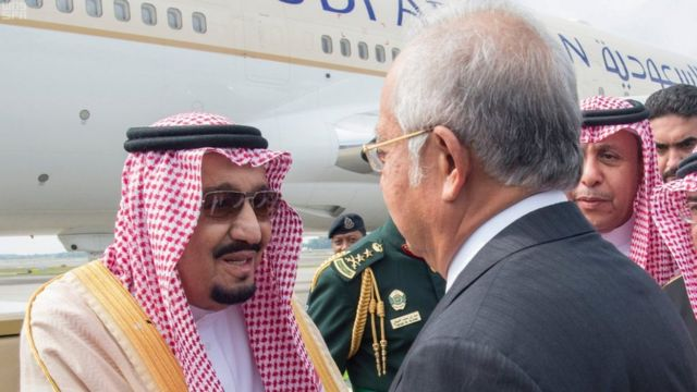 salman, arab saudi. malaysia