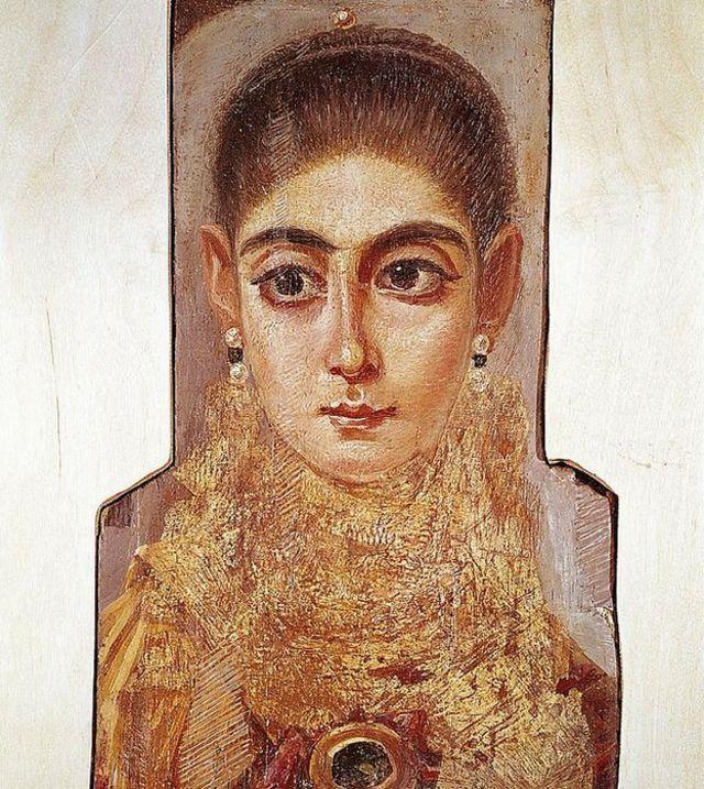 Retrato de una hermosa joven.